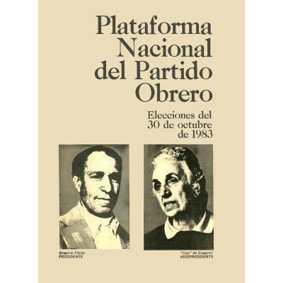 Plataforma nacional del Partido Obrero 1983